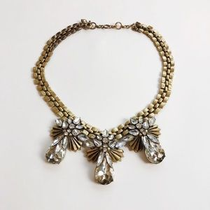 J. Crew | Gold Crystal Statement Necklace